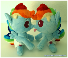 Baby Rainbow Dash ..double trouble by zuckerschnuti