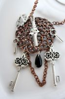 four keys-steampunk necklace by dear-dead-ofelia