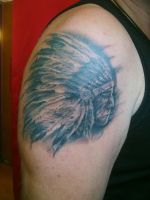 Indian chief head by SimplyTattoo