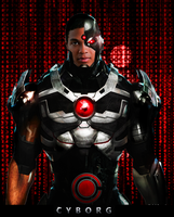 Ray Fisher as Cyborg by Alexbadass