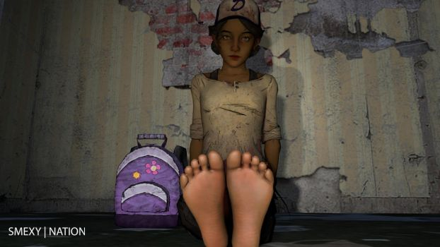 Clementine with her feet up by Smexy-Nation