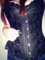 corset and strings by LivingDEADkitty