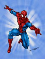 Spider-man Swinging at you by jmaturino
