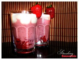 + strawberry smoothie. by tomson