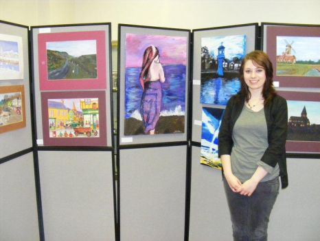 Me In Brynmawr Museum and my exhibition by JamieJones93