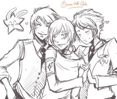 WIP - Ouran Host Club by Kuru-da-Bunbun
