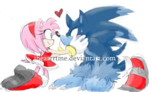 WerehogSonicxAmy sketch by ihearrrtme