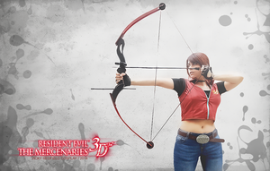 Claire Redfield RE M3D wall by VickyxRedfield