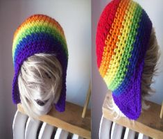 WIP: Rainbow Flap Hat by ambiguousginger
