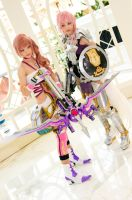 Serah Farron and Lightning, Final Fantasy XIII-2 by EminenceRain