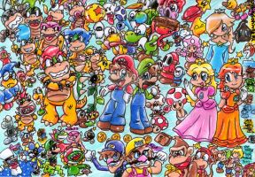 Mario and Co by PaperLillie