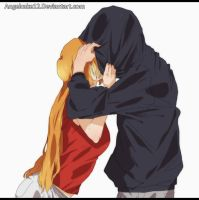 IchiHime-Hidden kiss by angelcake12
