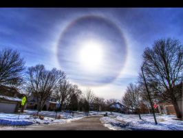 Winter's Halo by FramedByNature