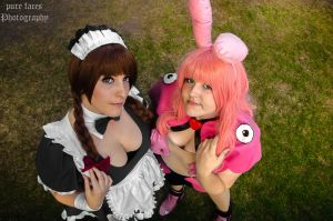 Queen's Blade: Melona and Melona Maid (from above) by pure-faces
