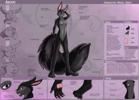 [Commission] Aigou Character Sheet by Ulario
