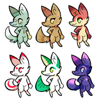 OTA canid adopts (5/6 SOLD) by tontoh