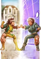 Rogue Touches Herself by muscle-fan-comics