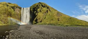 Skogarfoss Panorama by cwaddell