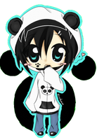 Panda chibi girl by Pandorex