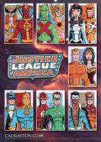 Justice League of America Sketch Card Commissions by calslayton