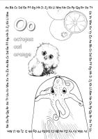 alphabet coloring pages Oo copy by jbeverlygreene