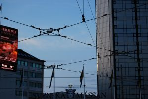 Tram electrical cable crossing by ProjektGoteborg