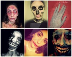 American Horror Story inspired makeup by CamilaCostaArt