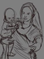 mother and baby by manukblm
