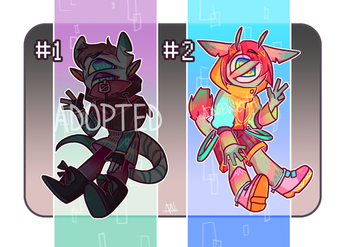 [ADOPTS] #1 and #2 (1/2 OPEN) by aznpew