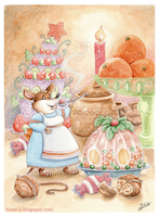 Mrs. mouse's Christmas by Ilona-S