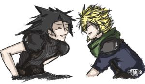Good Old Times ZackXCloud by maiibe