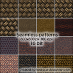 seamless fabric textures by feniksas4