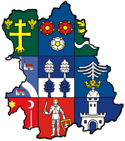 Heraldic map of Central Slovak region by hosmich