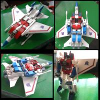 starscream lego by Mazingerzetto