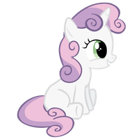 Sweetie Belle Sitting by imjoshdean