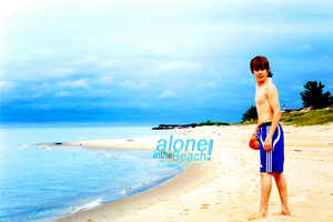 Alone in the Beach. by AbrilCorpDesigns