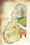 Rapunzel By Her Window by foreverbeginstoday