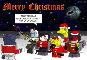 Transformers Christmas Card 2006 by deadcal