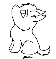 Free Chibi Puppy Lineart by Dannybabe