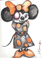 Mini Mouse by Papierschnitt