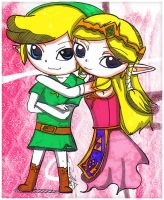 Link and Zelda by Danielle-chan