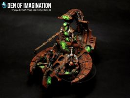 Necron Comand Barge by Brovatar