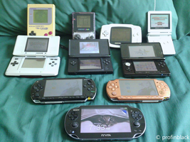My Collection of Handheld Consoles by profinblack