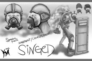 SF Singed Skin BW by Kaiser-jiM