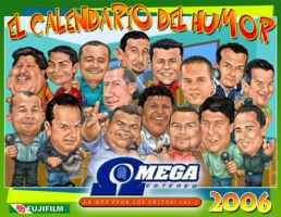 Caricatura Locutores Omega by Mecho