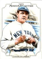 Topps Canvas Collection Sketch Card Babe Ruth by DBergren
