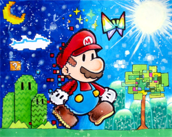 Super Paper Mario by Zeldagal