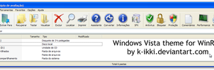 Windows Vista theme for WinRAR by K-Ikki