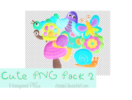 PNG PACK2 : 8 cute stickers by chazzief
