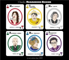 Rammstein Cluedo - Suspects by tanmei